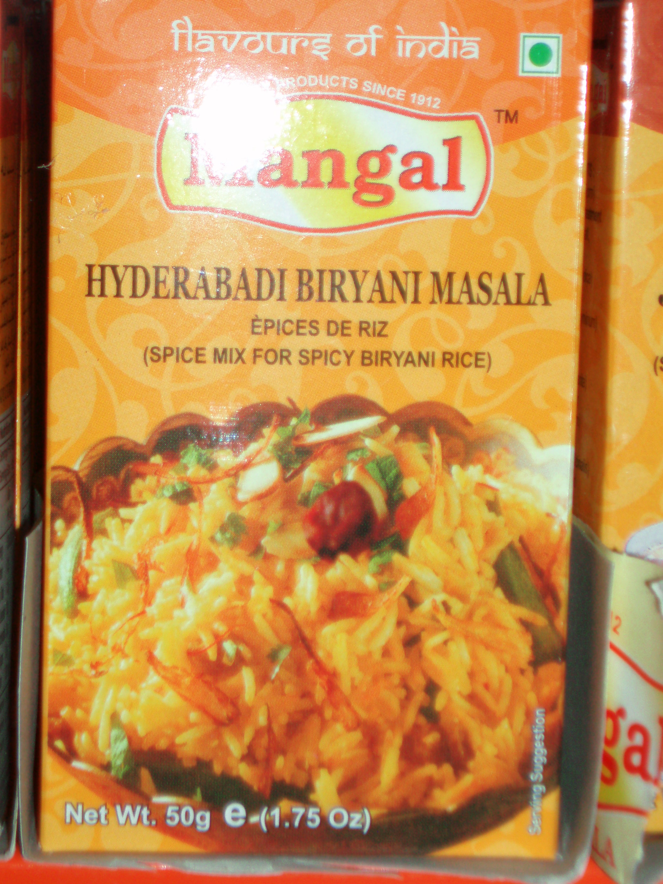 Hyderabadi Biryani Masala-Mangal-50 gm