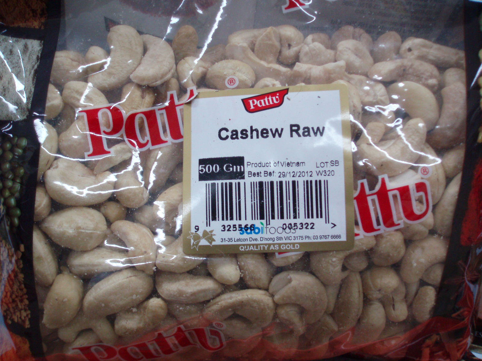 Cashew Raw-Pattu-500 gm