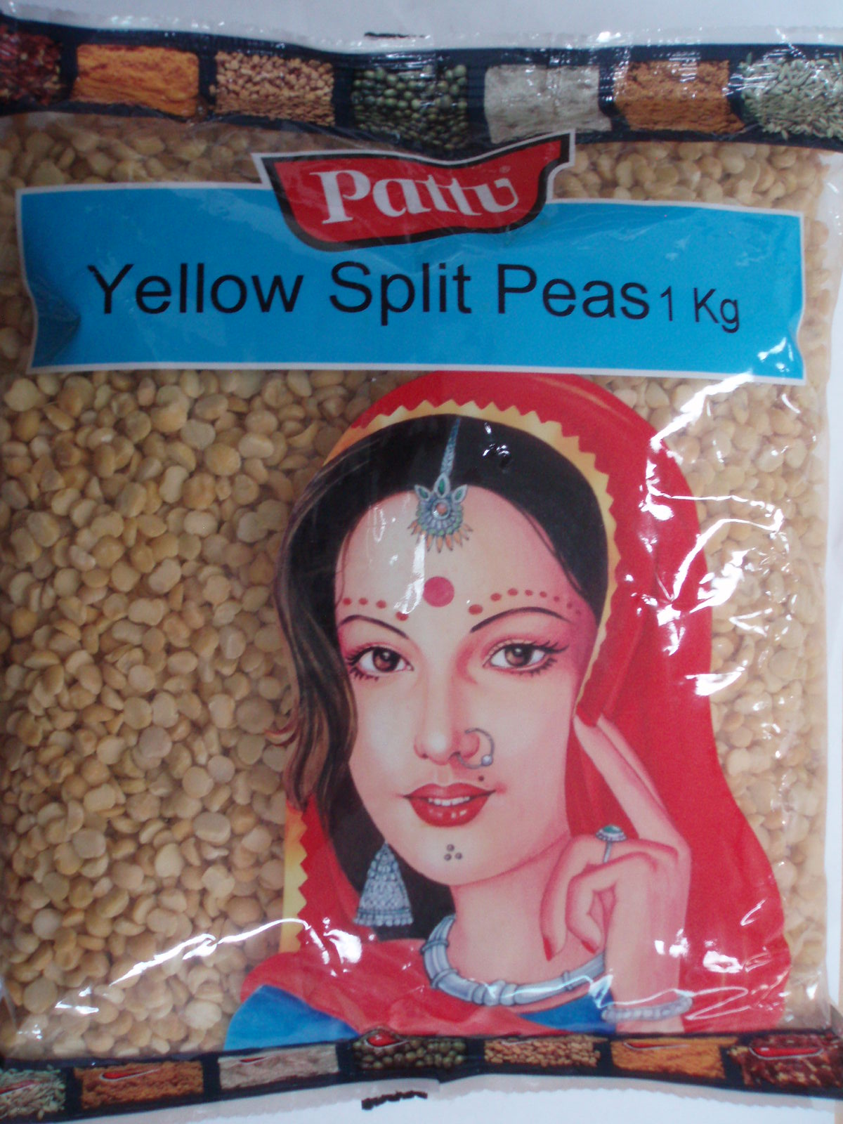 Yellow Split Peas-Pattu-1 Kg